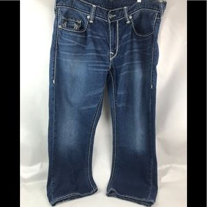 True Religion blue straight Men's Jeans Sz 36